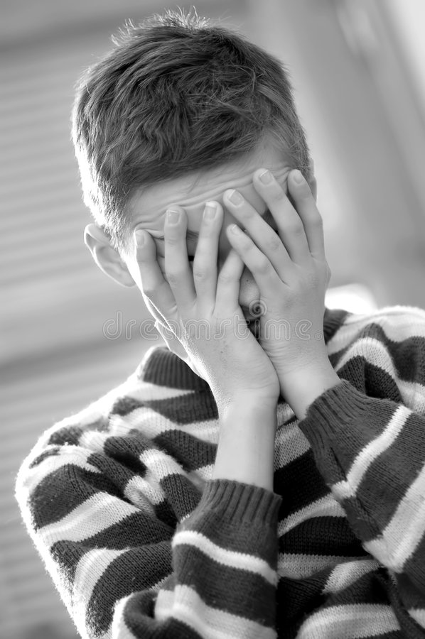 Sadness stock photography