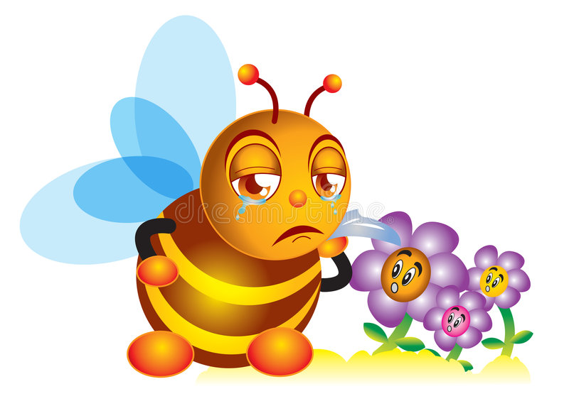 Download Sadness bee stock illustration. Illustration of cartoon - 7866231