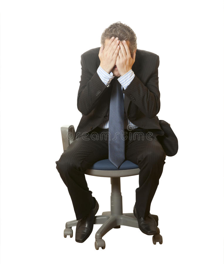 Download Sadness businessman stock image. Image of angry, concept - 14449309