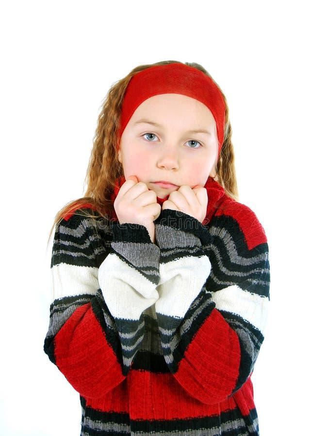 Download Sadness girl stock image. Image of cold, fashion, beautiful - 13360753