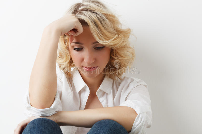 Sadness Young Girl Royalty Free Stock Photo
