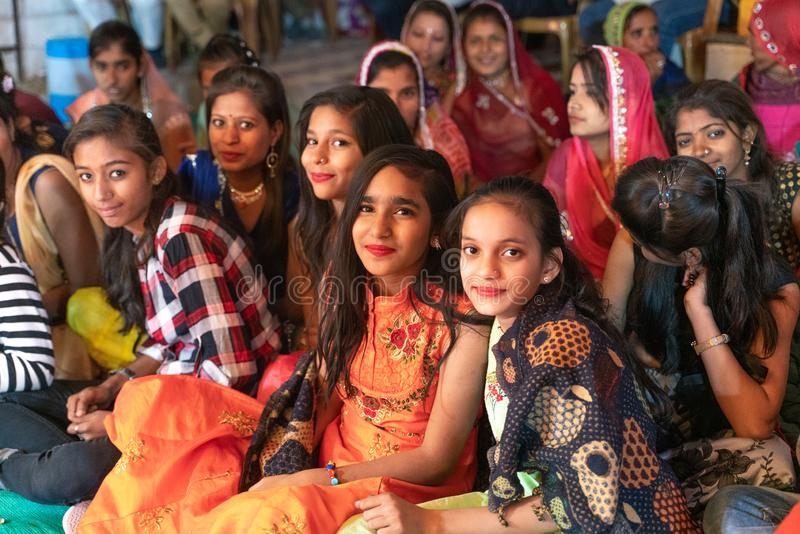 Sadri/india-12.07.2019:The people on traditional rajasthani wedding ceremony royalty free stock photos