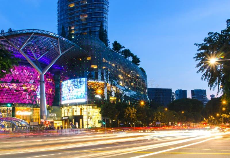 Sadu Drogowy złącze Singapur obraz royalty free