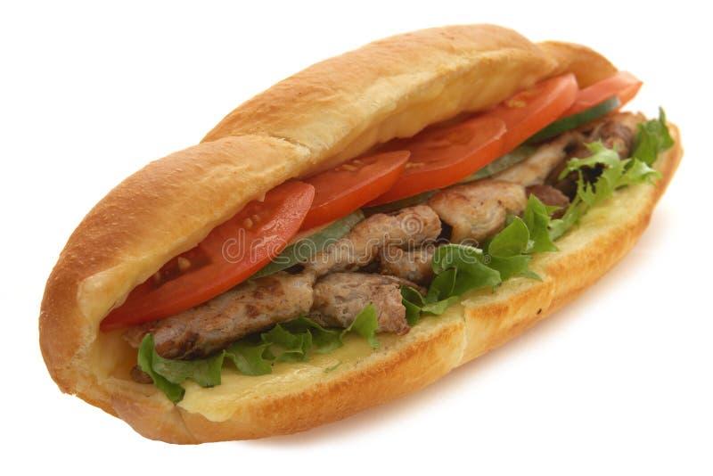 Sadwich della carne immagini stock