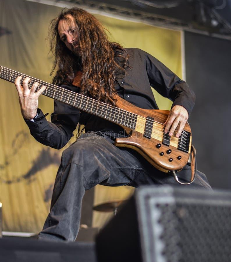 Sadysty metalu zespół żywy w koncercie, 2016 zdjęcia stock
