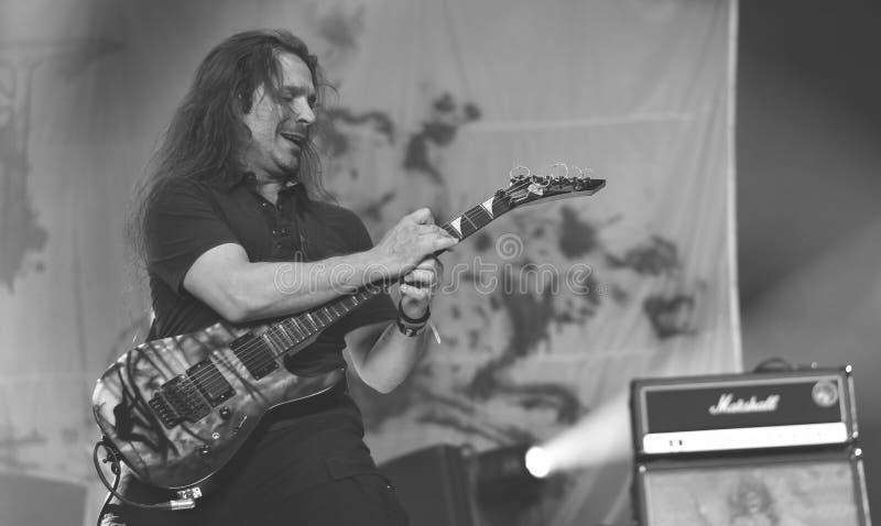 Sadysty metalu zespół żywy w koncercie, 2016 obrazy royalty free