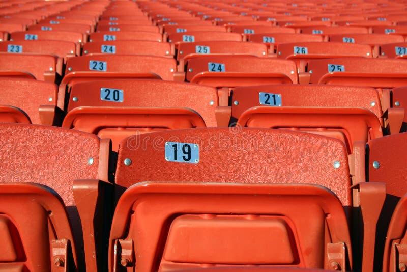 sadza na stadionie fotografia stock