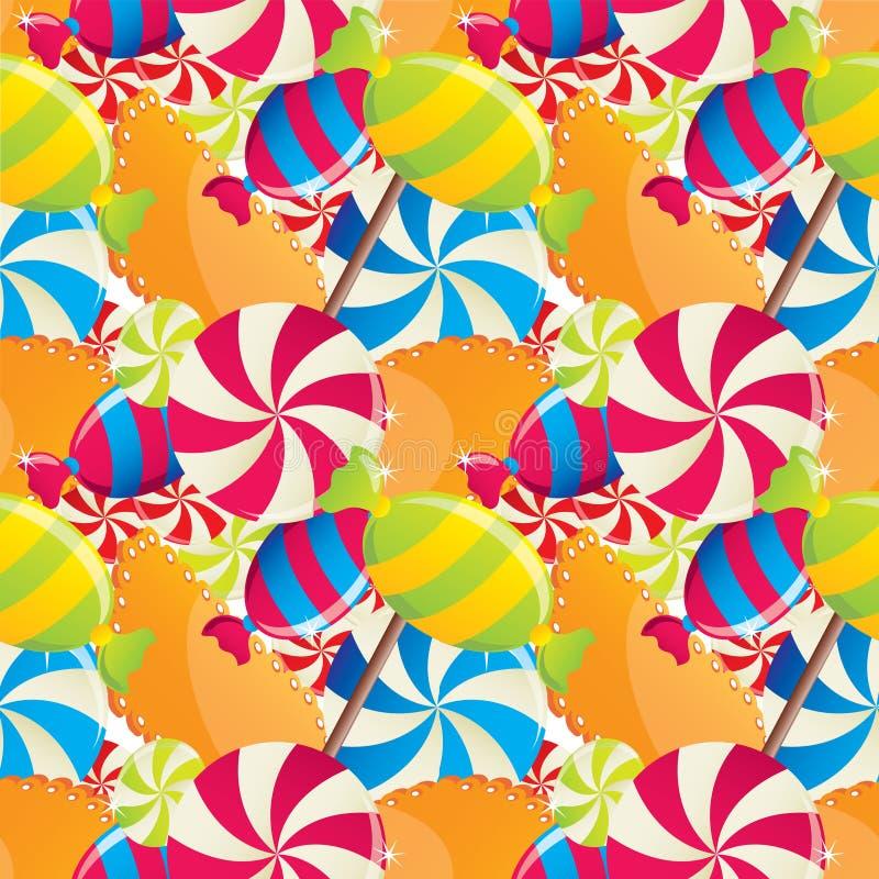 Saemles spattern con los dulces libre illustration