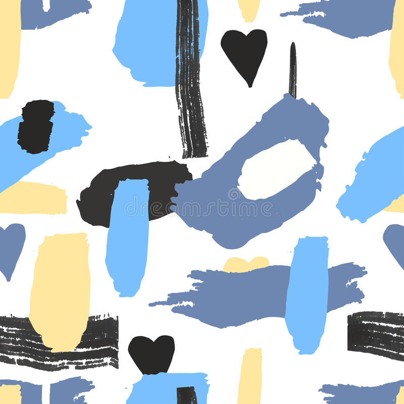Saemless modellfrihandsbeståndsdelar med färgpulver stock illustrationer