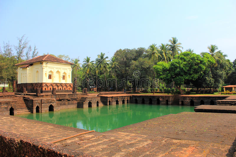 Safaen Shahouri Masjid, Phonda, Goa Indien royaltyfria foton