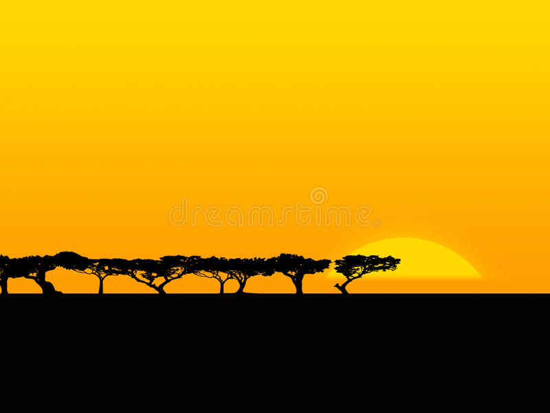 Safari stock illustratie