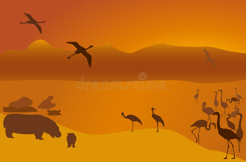 Safari-7 royalty-vrije illustratie