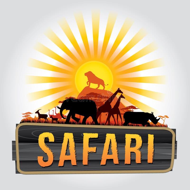safari royalty ilustracja