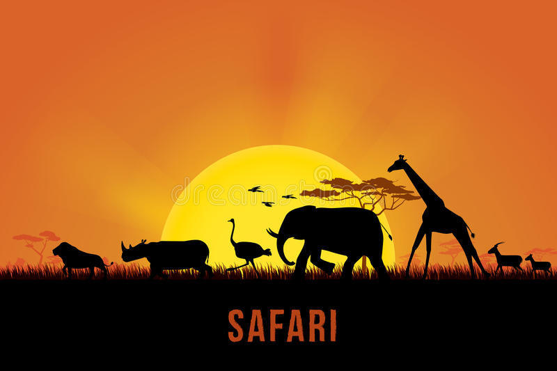 safari royalty illustrazione gratis