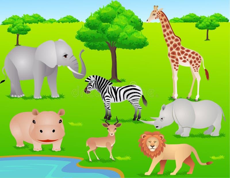 Download Safari animal cartoon stock vector. Illustration of savanna - 13531562