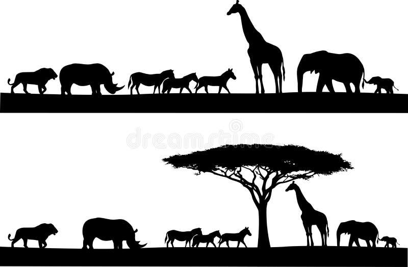Download Safari animal silhouette stock illustration. Image of rhino - 25901883