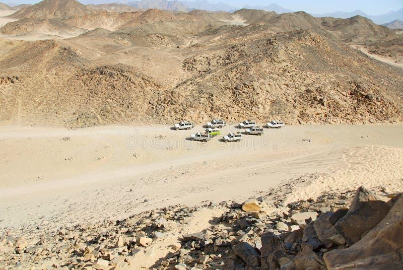 Safari bij de woestijn van Egypte royalty-vrije stock foto