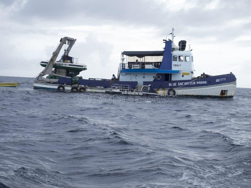 Safari bleu à Trou-aux.-Biches, Îles Maurice photos stock