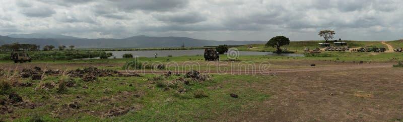 Safari in cratere di Nogorongoro fotografie stock