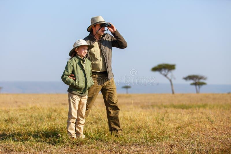 Safari da família em África fotografia de stock royalty free