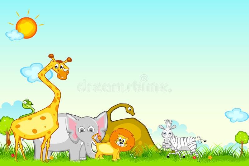 Safari da selva ilustração stock