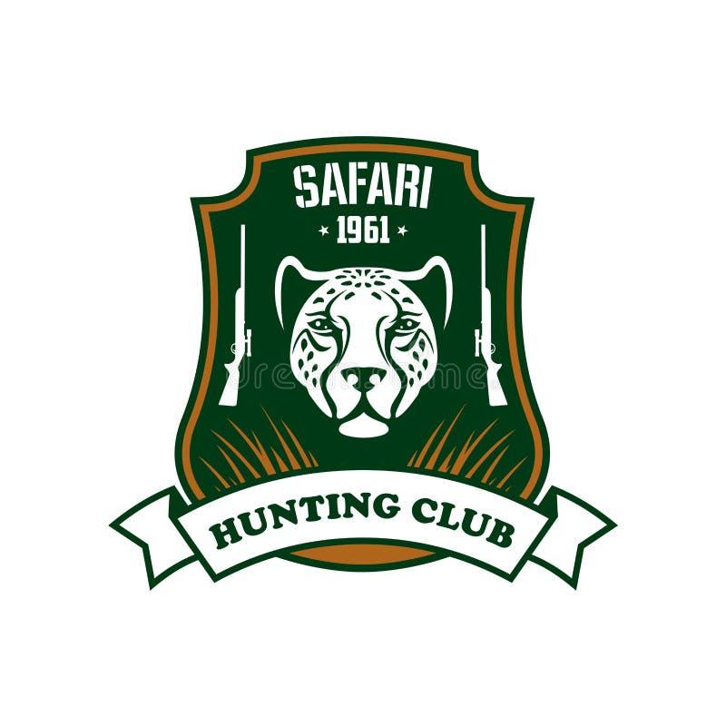 Safari de clubteken van de de jachtsport vector illustratie