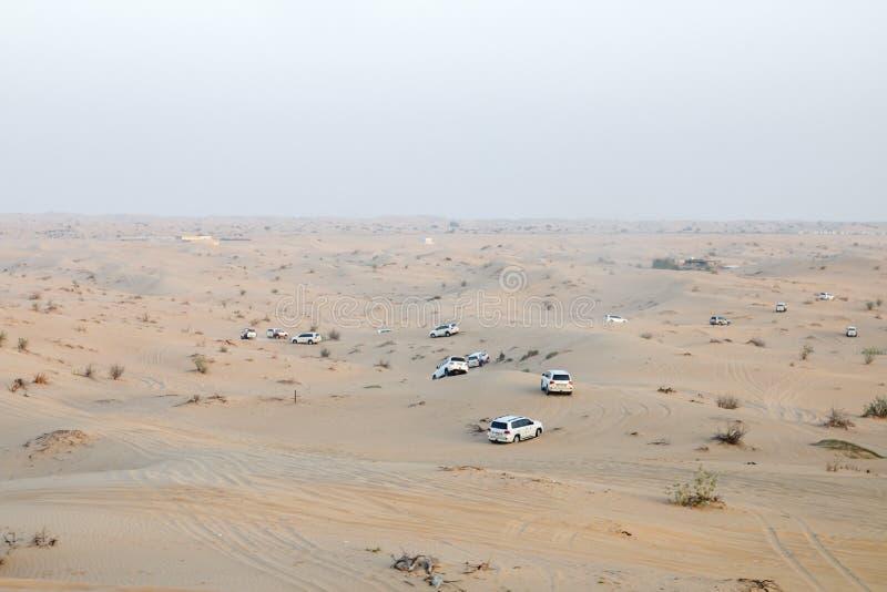 Safari in de woestijn stock afbeelding