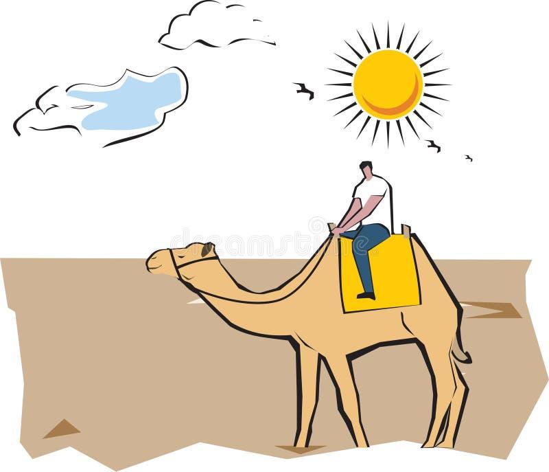 Safari del camello ilustración del vector