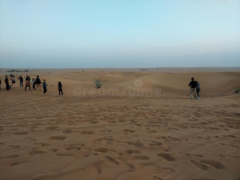Safari del deserto del Dubai immagini stock