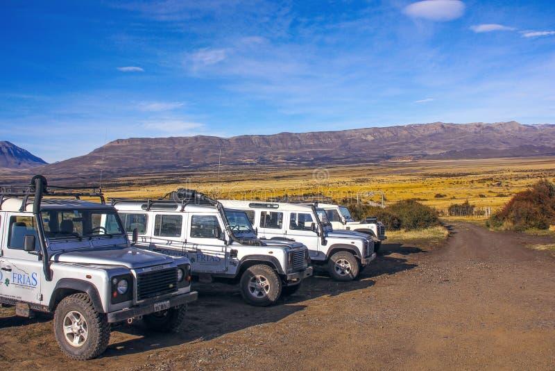 Safari del viaje de la aventura del jeep del camino Patagonia, la Argentina, imagen de archivo