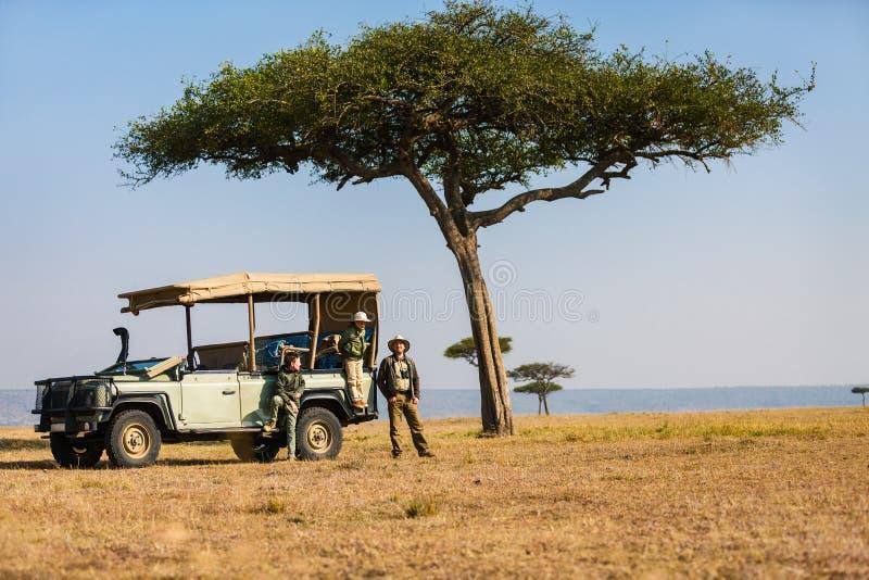 Safari della famiglia fotografie stock