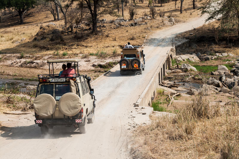 Safari della jeep fotografie stock