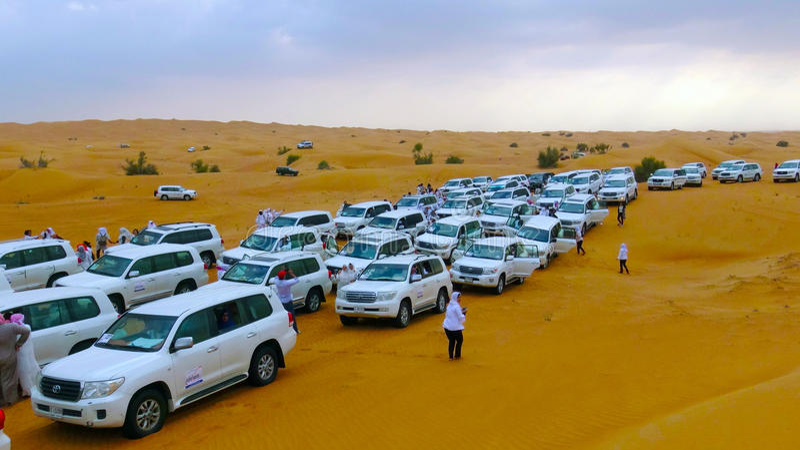 Safari Desrt in Dubai royalty free stock photos