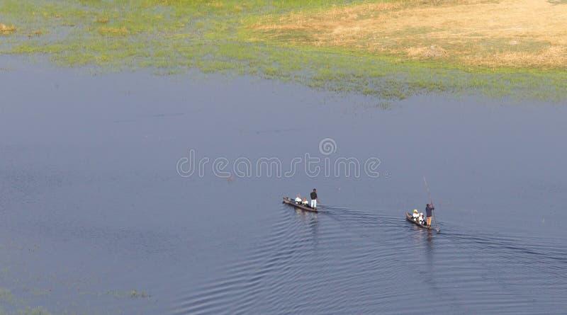 Safari di Mokoro nel Botswana fotografia stock libera da diritti