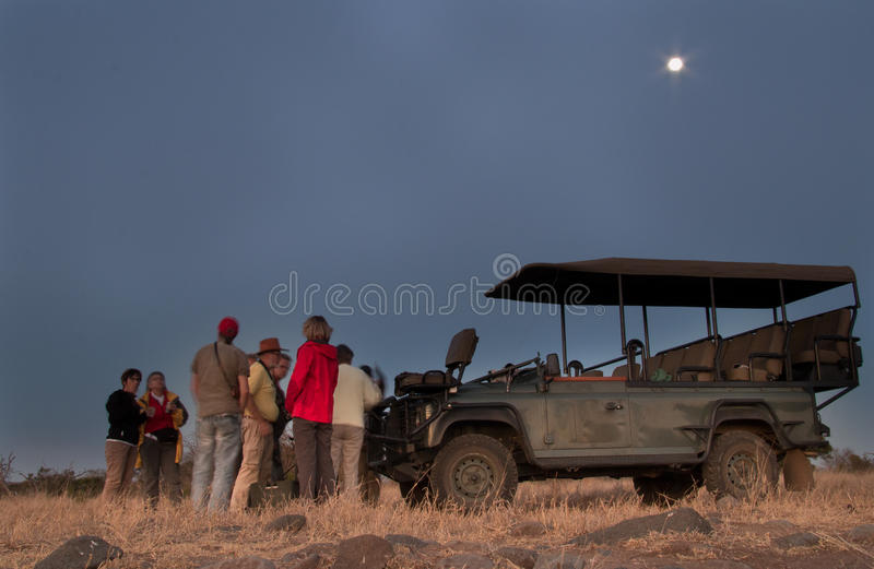 Safari drinks stop. Africa's Big 5 safari in the company of your skilled ranger and tracker. ... Halfway through the game drive, there's a stop for hot drinks stock photos