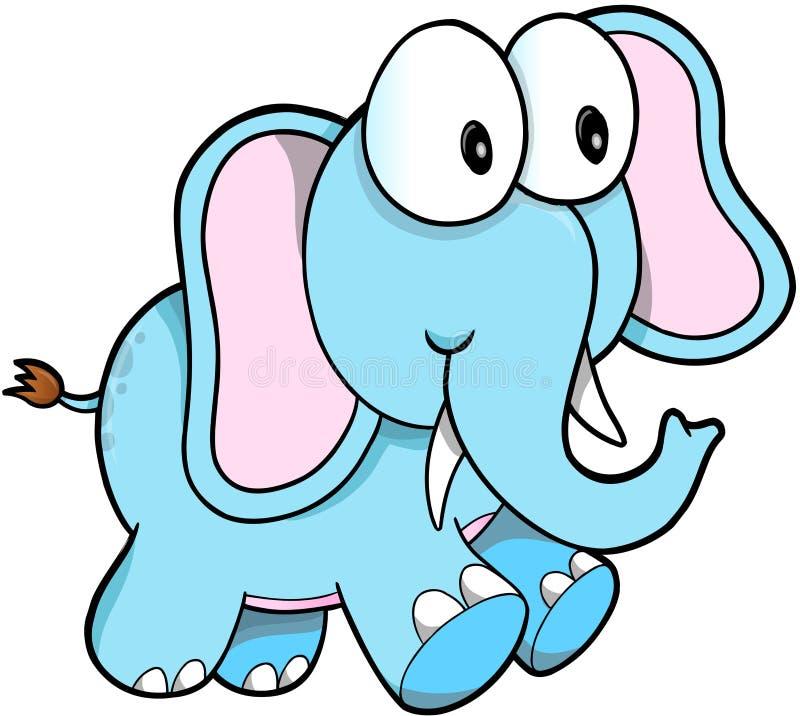 Safari Elephant Vetora ilustração do vetor