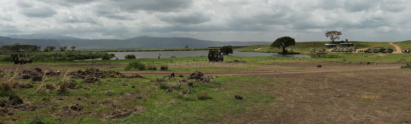 Safari en el cráter de Nogorongoro fotos de archivo
