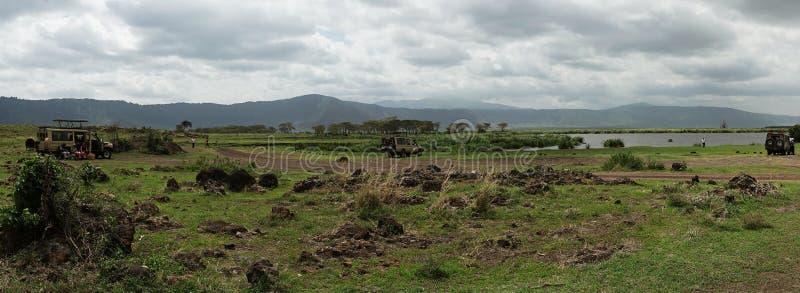 Safari en el cráter de Nogorongoro imagen de archivo libre de regalías