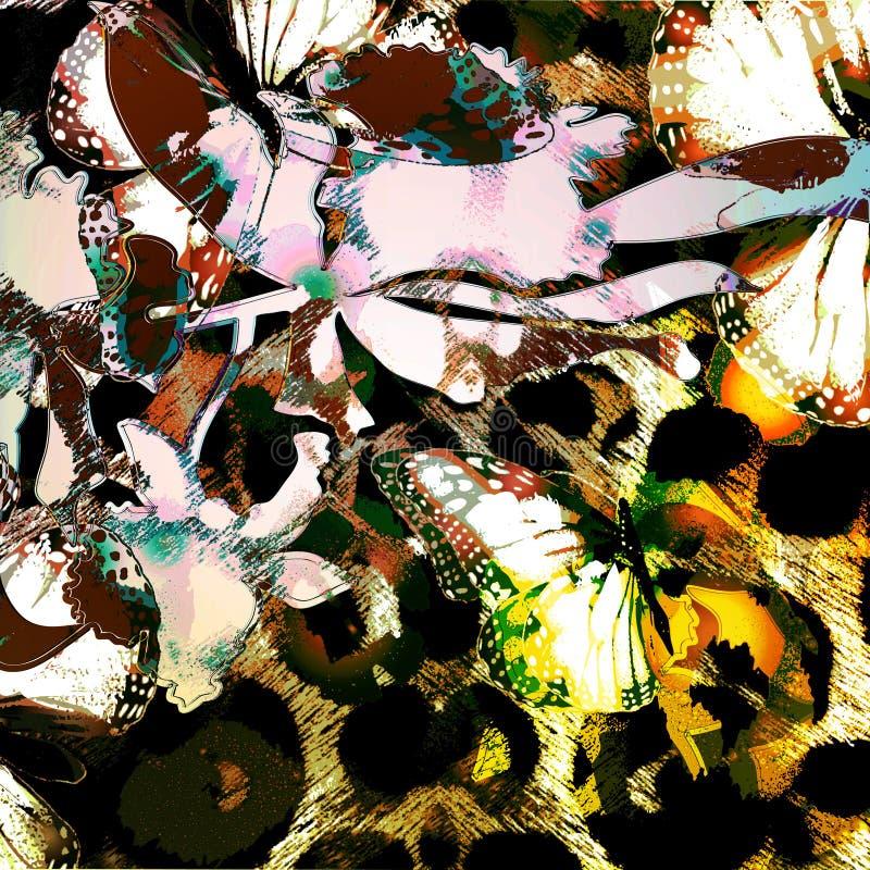 Safari exótico ilustración del vector