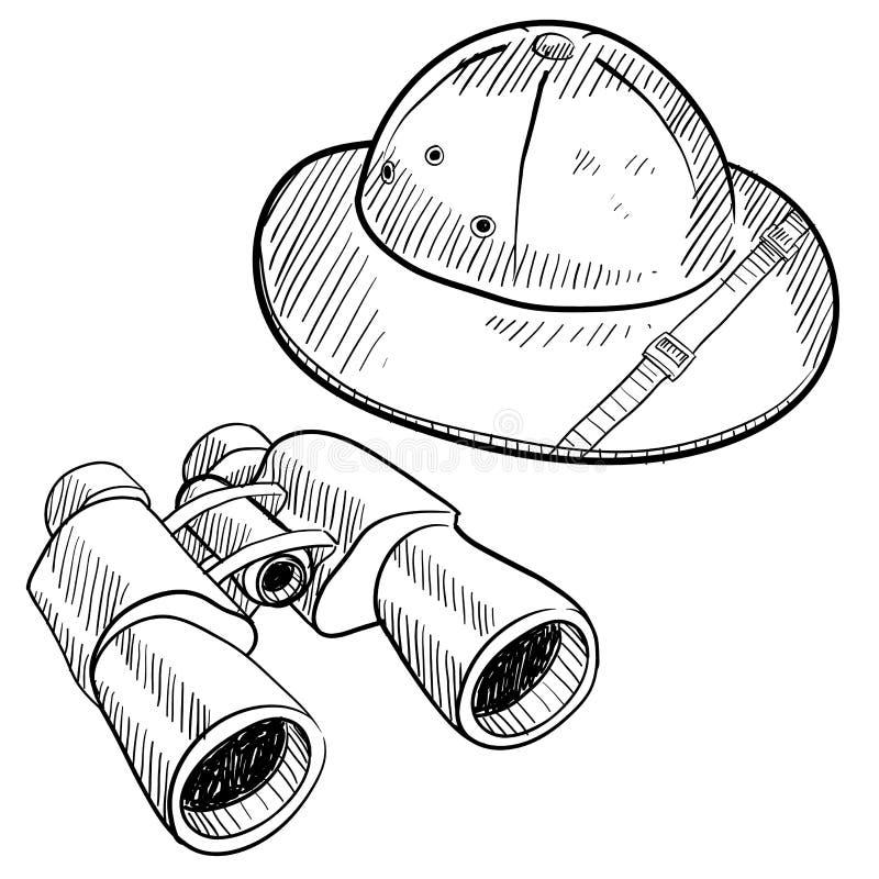 Download Safari gear drawing stock vector. Illustration of jungle - 22459443