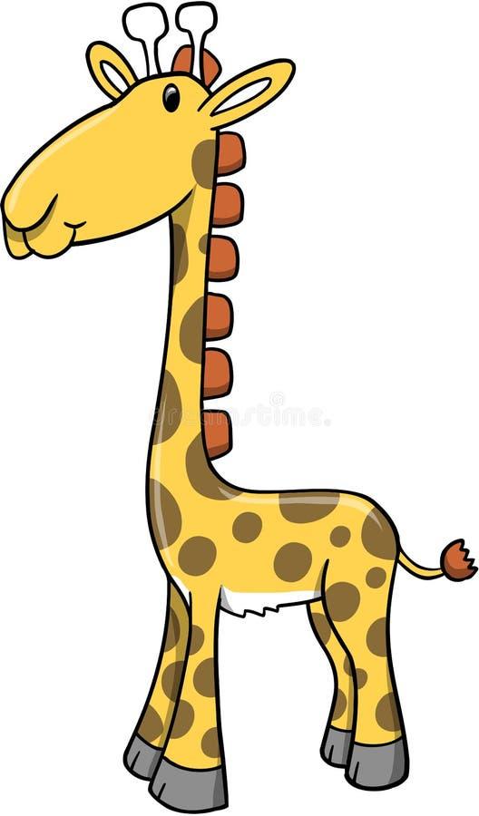 Safari-Giraffe-vektorabbildung stock abbildung