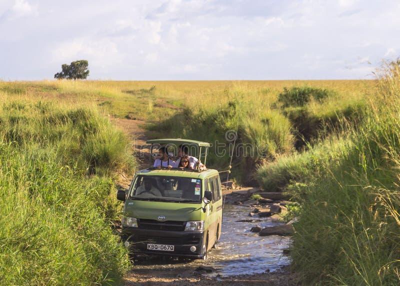 Safari i Kenya fotografering för bildbyråer