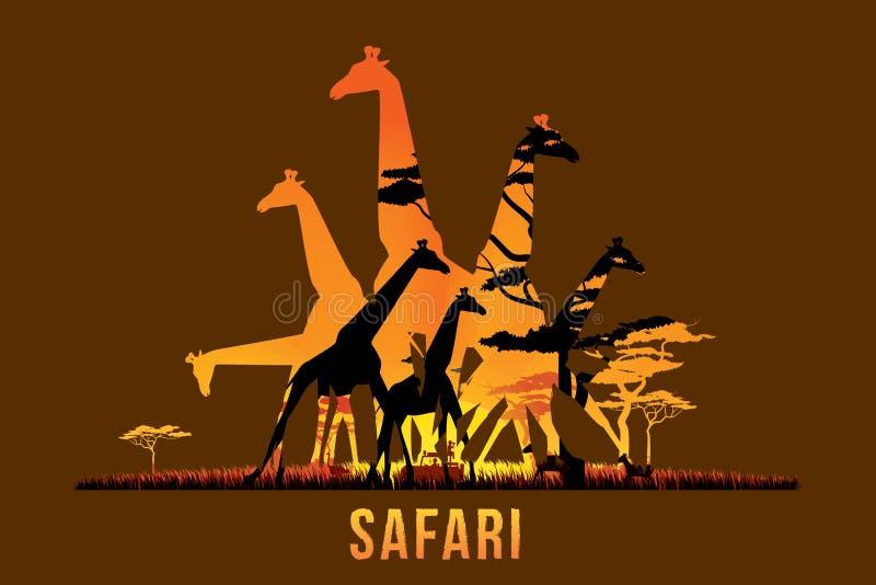 Safari i przyroda royalty ilustracja