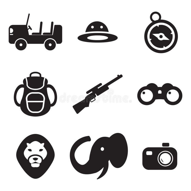 Safari Icons stock abbildung