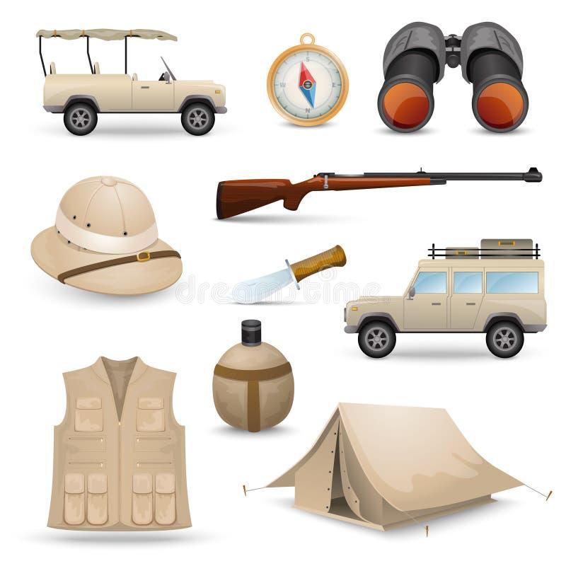 Safari Icons For Hunting royaltyfri illustrationer