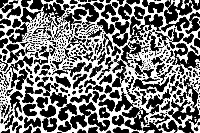 Safari noir et blanc illustration stock