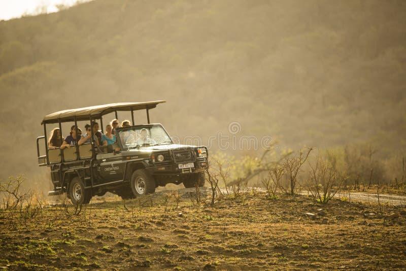 Safari pojazd na przejażdżce obrazy royalty free