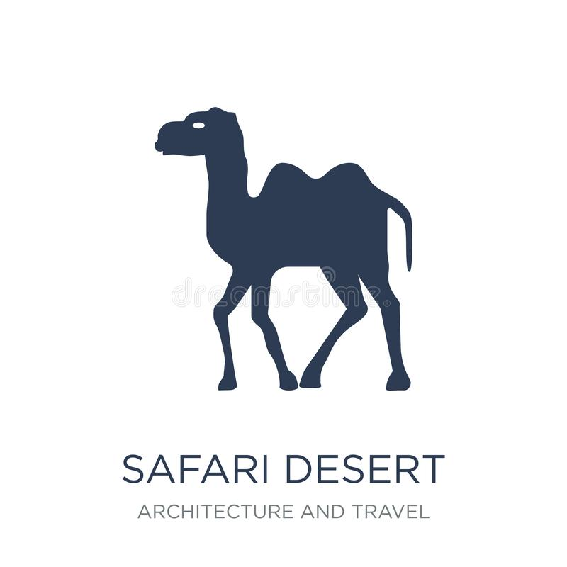 safari pustynna ikona Modna płaska wektorowa safari pustyni ikona na whi royalty ilustracja