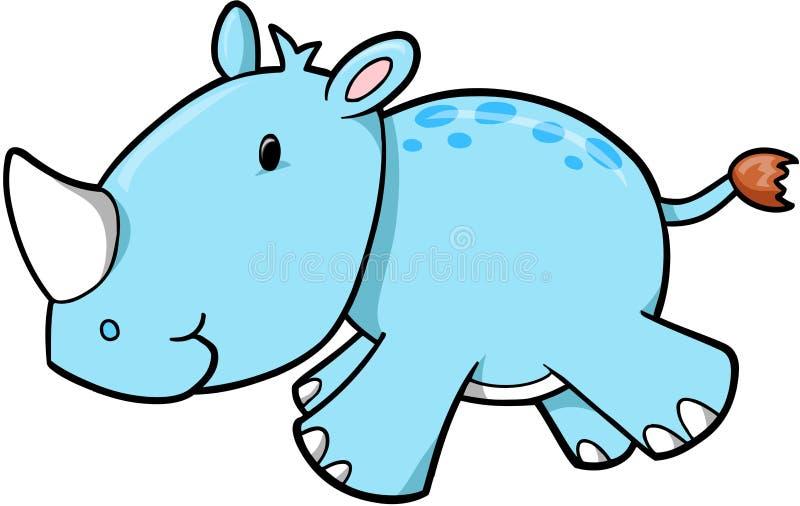 Safari Rhino Vector vector illustration