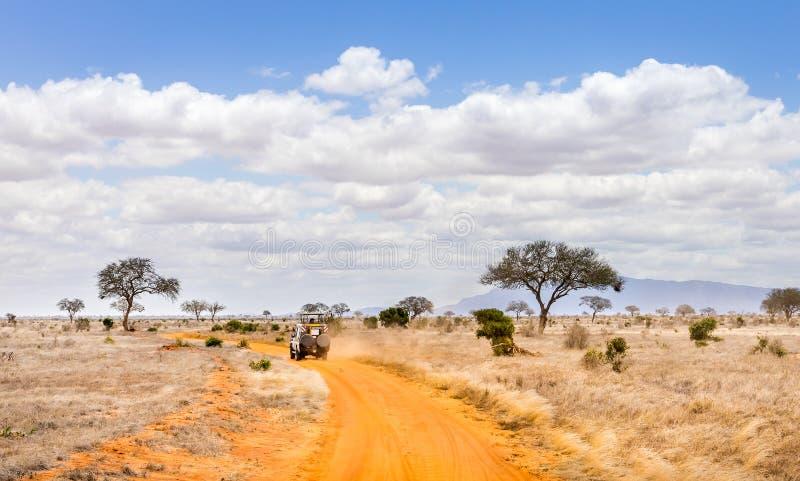 Safari road in Kenya royalty free stock photos
